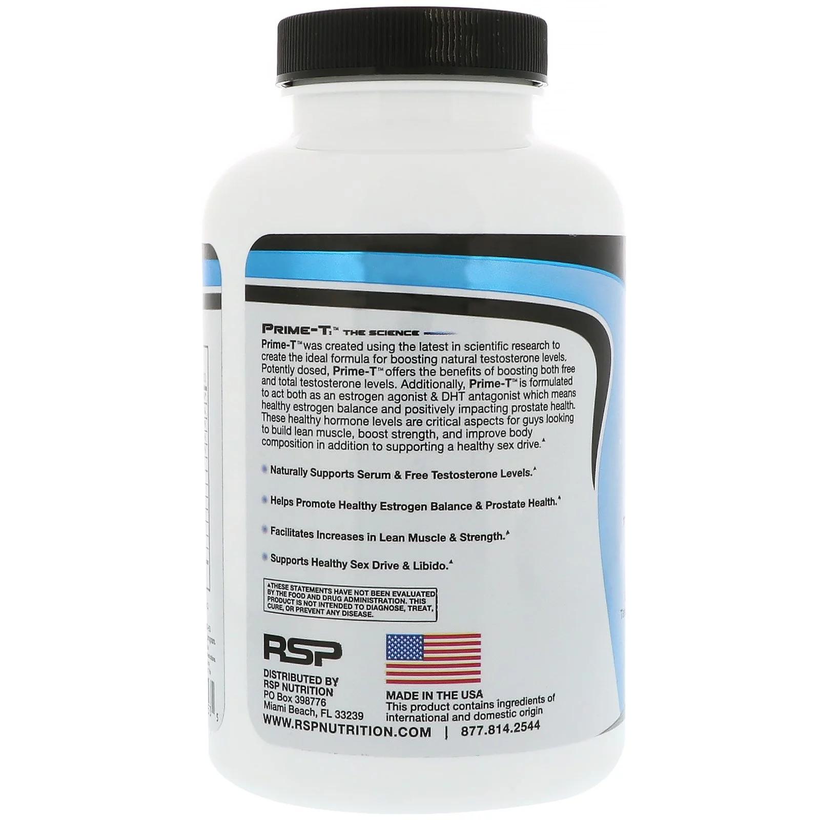 RSP Nutrition Prime-T Testosterone Booster 120 Tablets – U-FitNutrition